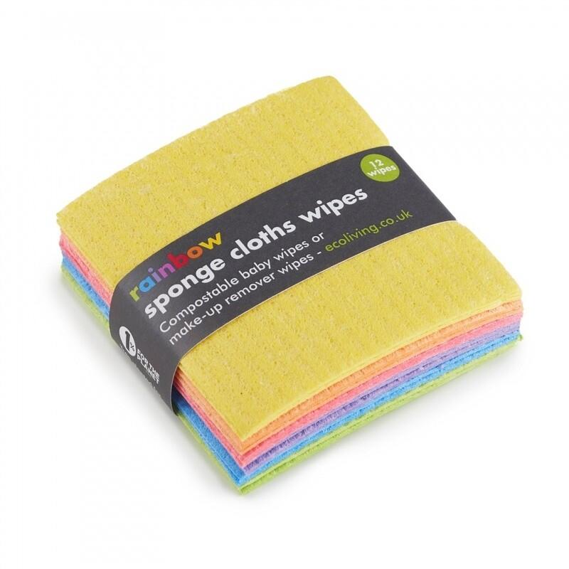 Ecoliving Rainbow Sponge Cloth Wipes