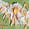 Hands Bamboo Salad Servers