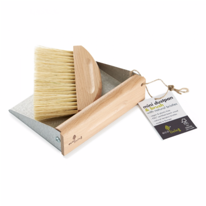 Ecoliving Mini Dust pan and Brush with Magnets
