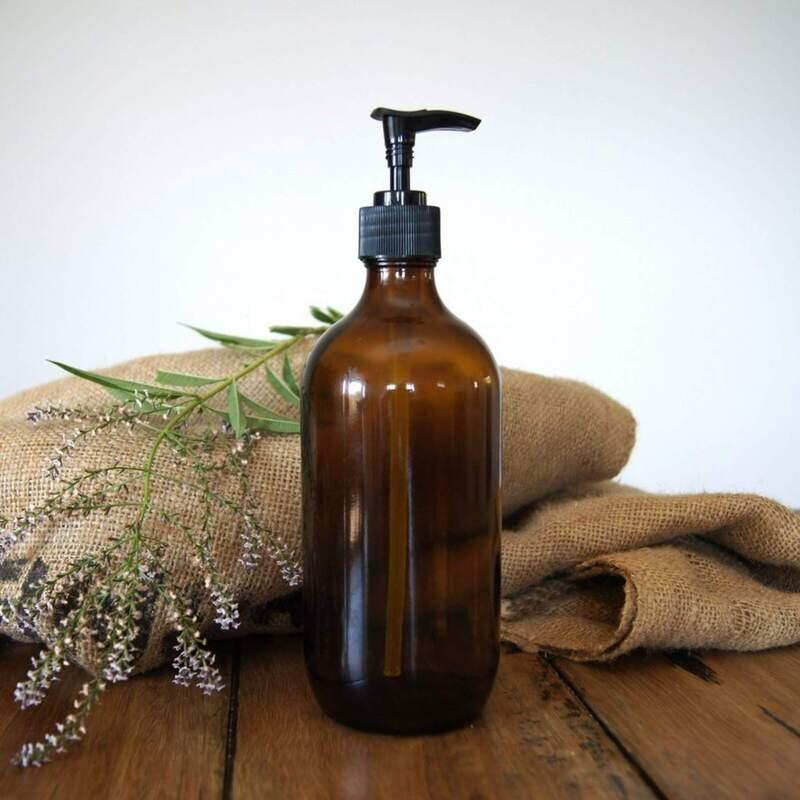 Amber Pump Bottle 500ml