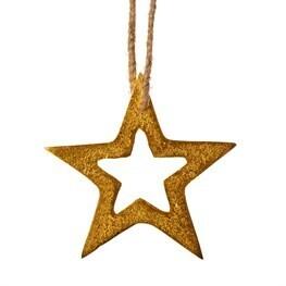 Golden Star Hanging Decoration
