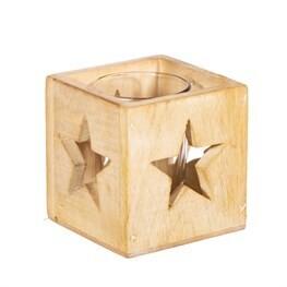 Wooden Birch Star Tea Light