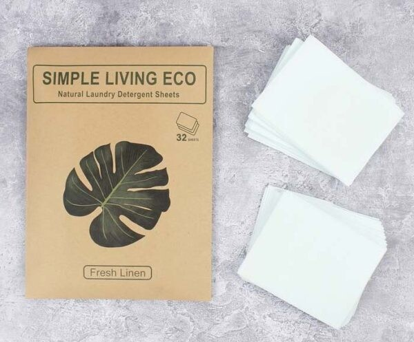 Natural Laundry Detergent Sheets 32 pack unscented