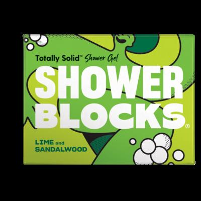 Shower Blocks Lime and Sandalwood