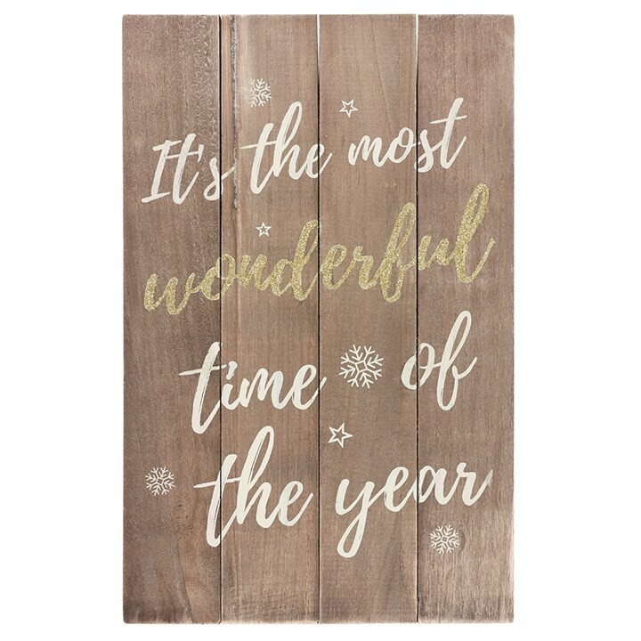 """""""It's the most wonderful time of the year"""" Hanging Sign"""