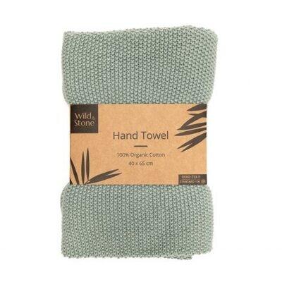 Organic Cotton Hand Towel (Moss Green)