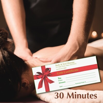 30 Minute Gift Certificate