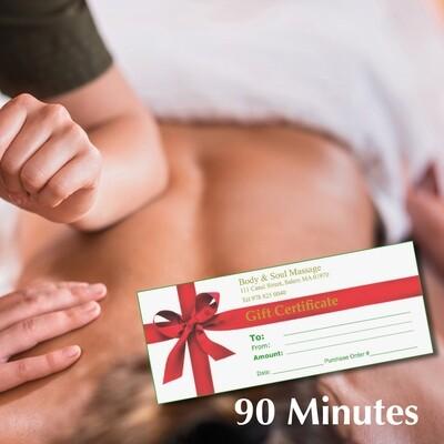 90 Minute Gift Certificate