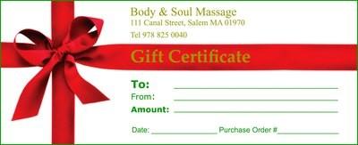 60 Minute Gift Certificate