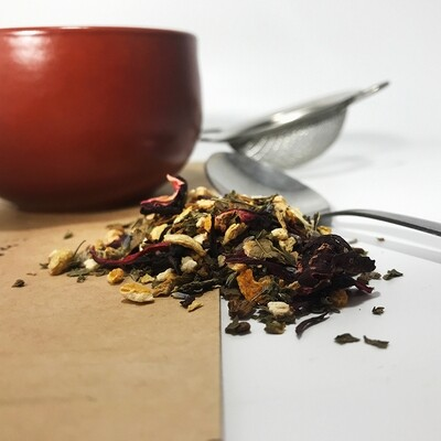 Autumn Hibiscus Tea - Prepackaged - 3 oz
