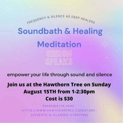 Soundbath Healing Meditation - August 15th - 1-2:30pm