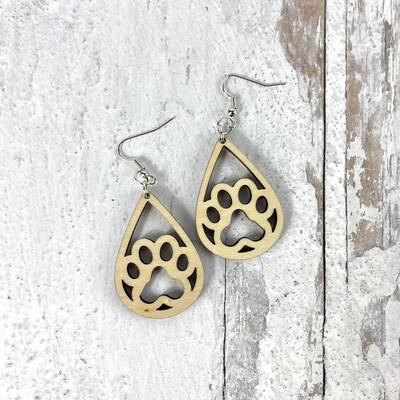 Pawprint Drop Earrings