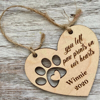 You Left Pawprints on My Heart Memorial Ornament