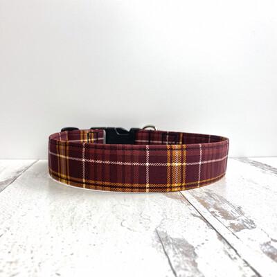 Cameron Plaid Dog Collar