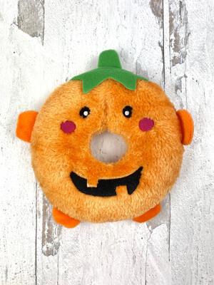 Pumpkin Donut Squeaky Toy
