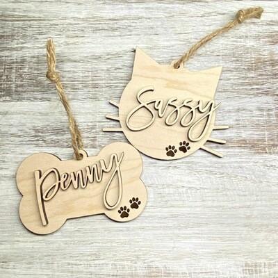Pet Name Ornaments