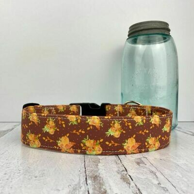 Country Flower Dog Collar