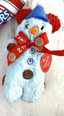 Snowman & Holiday bone Toy Set (2toys)