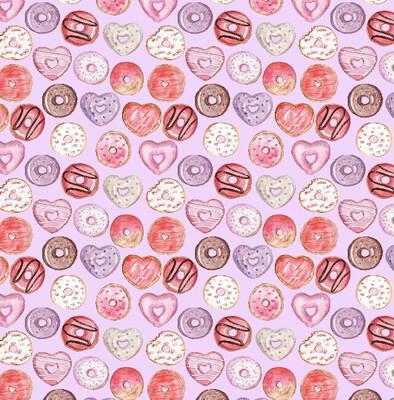 Valentine Donuts Dog Collar