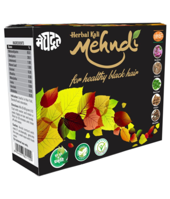 Ayurvedic Herbal Kali Mehandi - Black Hair Dye