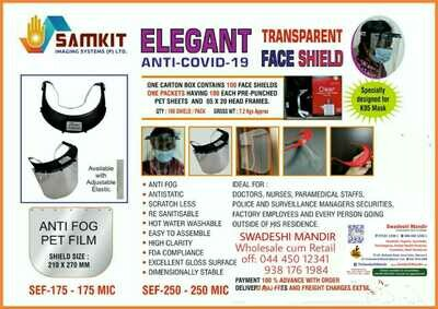 Elegant Anti-Covid-19 Transparent Face Shield