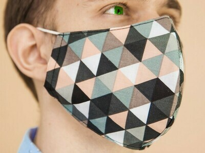 Designer Cloth Face Mask (N95 like Snug-fit Design)