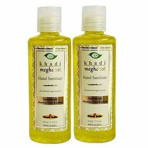 Khadi Meghdoot Hand Sanitizer with 60% Alcohol & Herbs for protection against germs