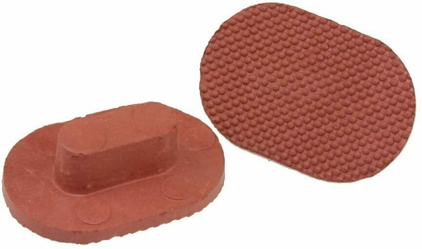 Mitti Cool 2pc Handmade Terracotta or Clay Exfoliator - Pumice Stone, Foot Scrubber, Linear Pattern for Exfoliation or Foot Massage