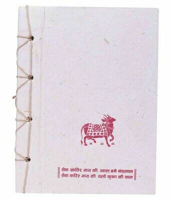 Gau Kriti Hand Stitch Note Book Made From Desi Cow Dung/Gobar