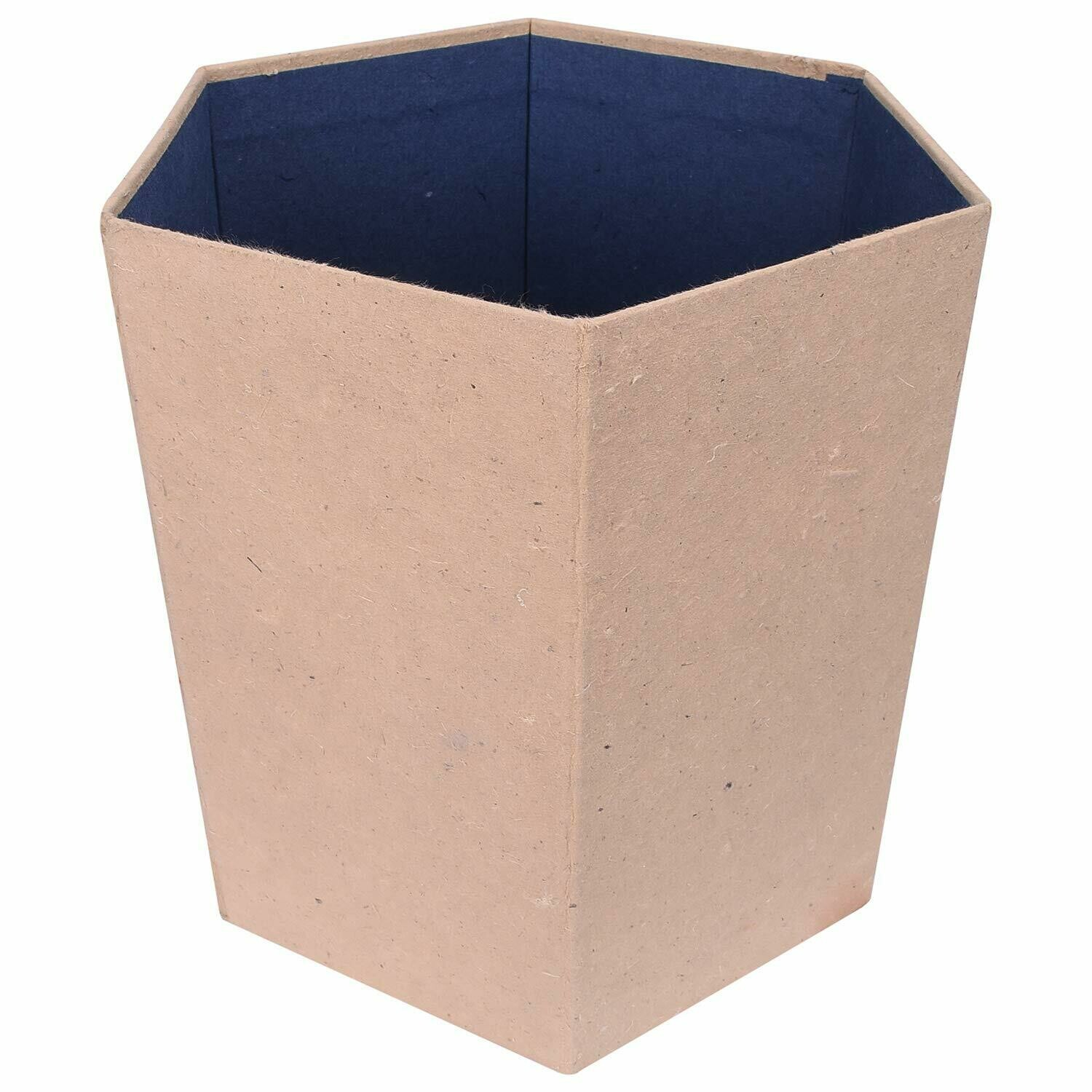 Waste Dust Bin (Hexagon) Made from Cow Dung/gobar