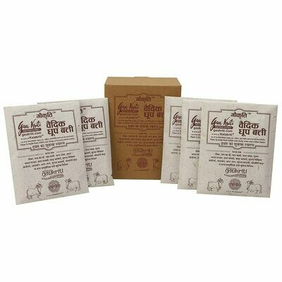 Cow dung Vedic Dhoop Box of 5 Packets Made from Cow Dung/gobar