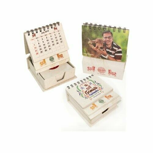 Gomata Calendar Made from Cow Dung/gobar