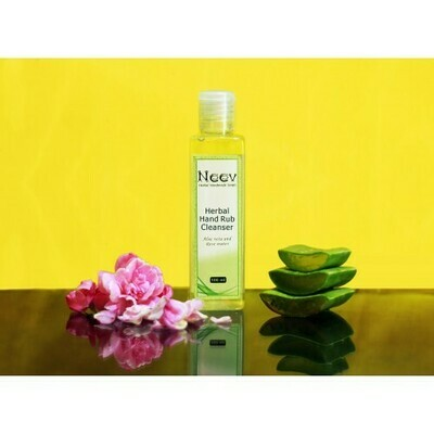 Neev Herbal Hand Rub Cleanser with Aloevera and Rose Water 200ml