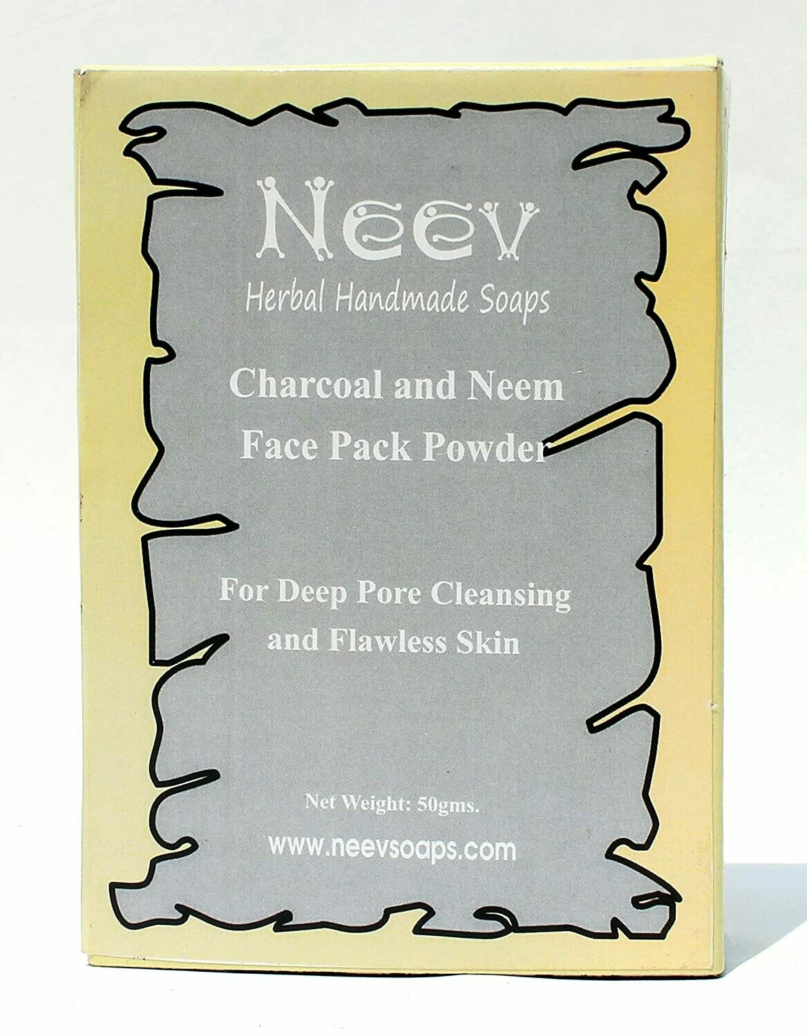 Neev Charcoal and Neem Face Pack For Deep Pore Cleansing and Flawless Skin 50g