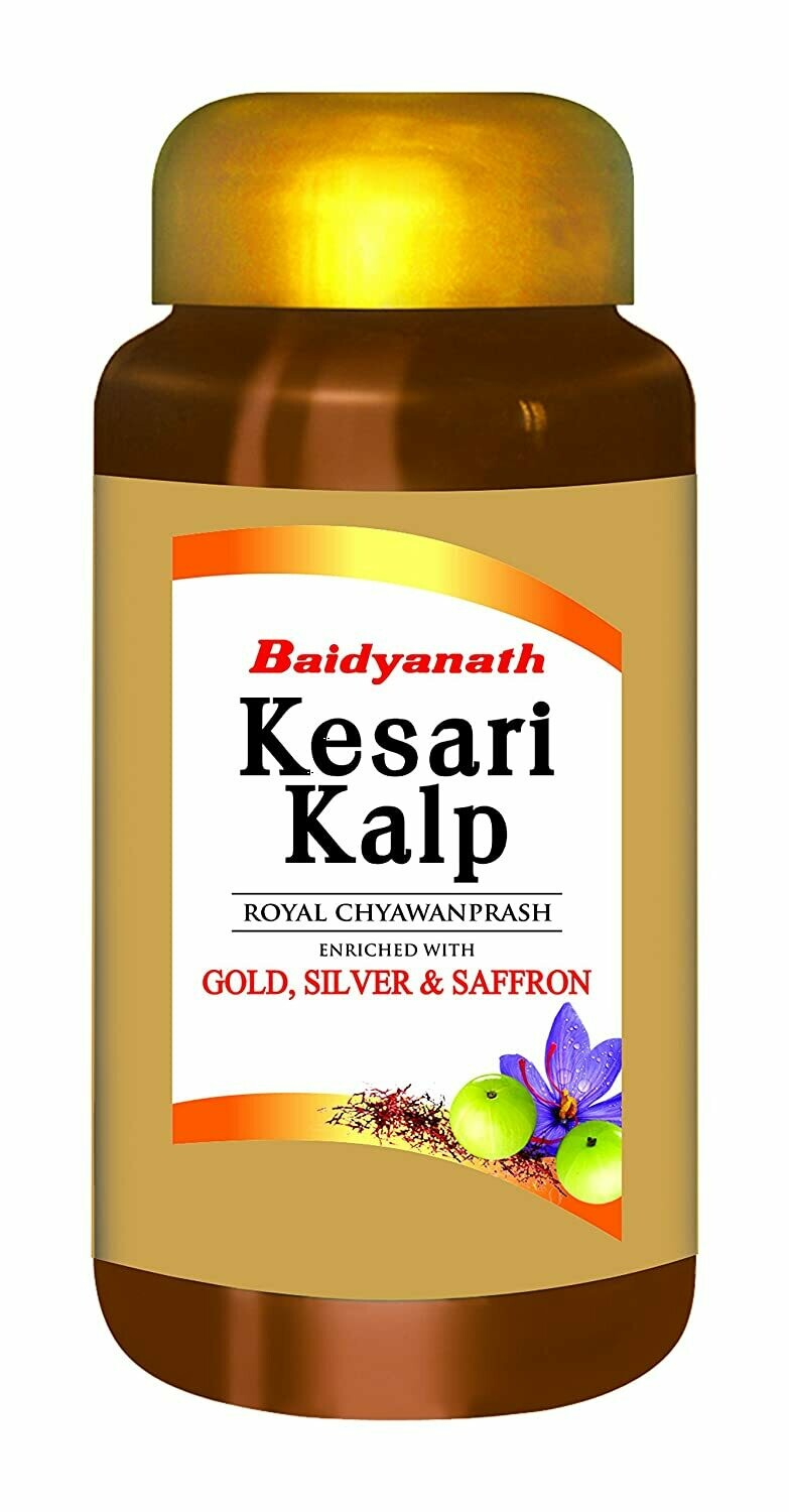 Baidyanath Kesari Kalp Royal Chyawanprash - Enriched with Gold, Silver and Saffron 500g