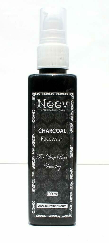 Neev Herbal Handmade Soaps Charcoal Face Wash for Deep Pore Cleansing 100ml