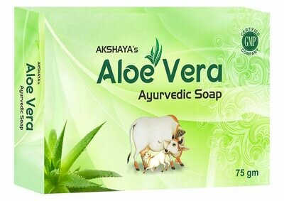Akshaya's Panchagavya Aloevera Ayurvedic Soap 75g