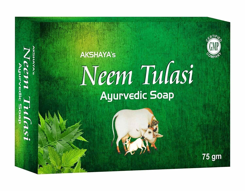 Akshaya's Neem Tulsi Ayurvedic Soap 75g