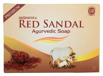Akshaya's Red Sandal Ayurvedic Soap 125g