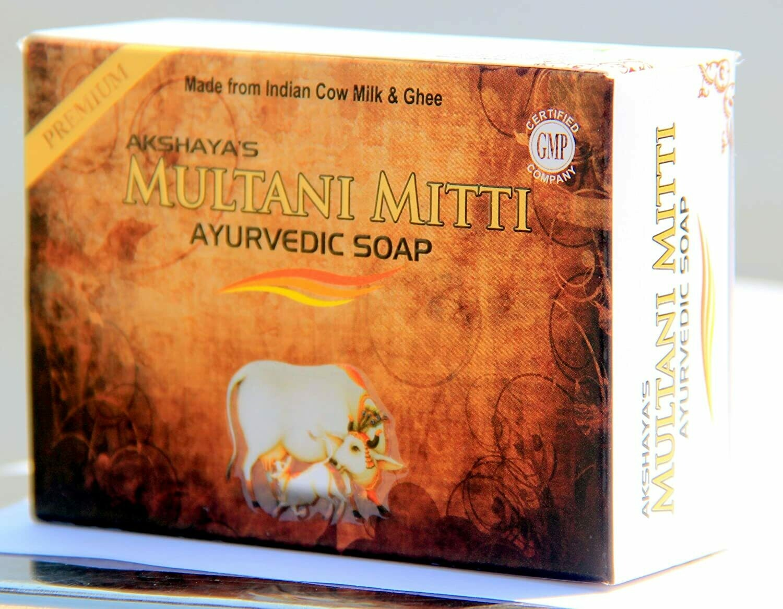 Akshaya's Multani Mitti Soap Ayurvedic  Premium 125g