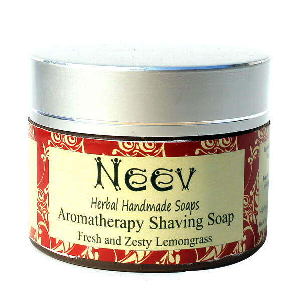 Neev Herbal Aromatherepy Shaving Soap Fresh and Zesty Lemongrass 50g