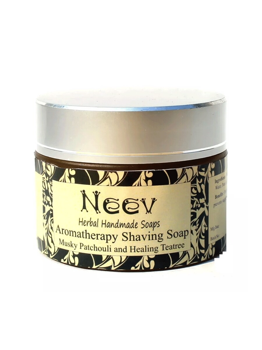 Neev Aromatherepy Musky Patchouli And Healing Teatree Shaving Soap 50g