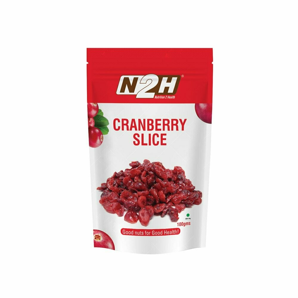 N2H Pure and Natural Cranberry Slice 100g