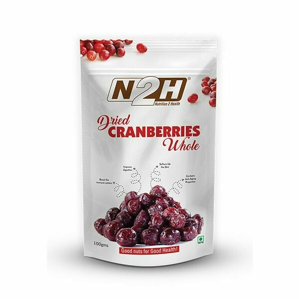 N2H Dried Cranberry Whole 100g