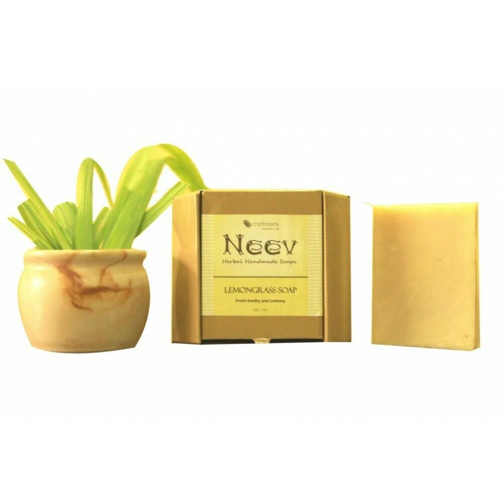 Neev Lemongrass Handmade Soap- Fresh, Earthy and  Lemony
