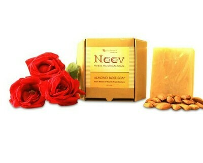 Neev Herbal Handmade Soaps Almond Rose Handmade Soap, Pure Elixir of Youth From Nature