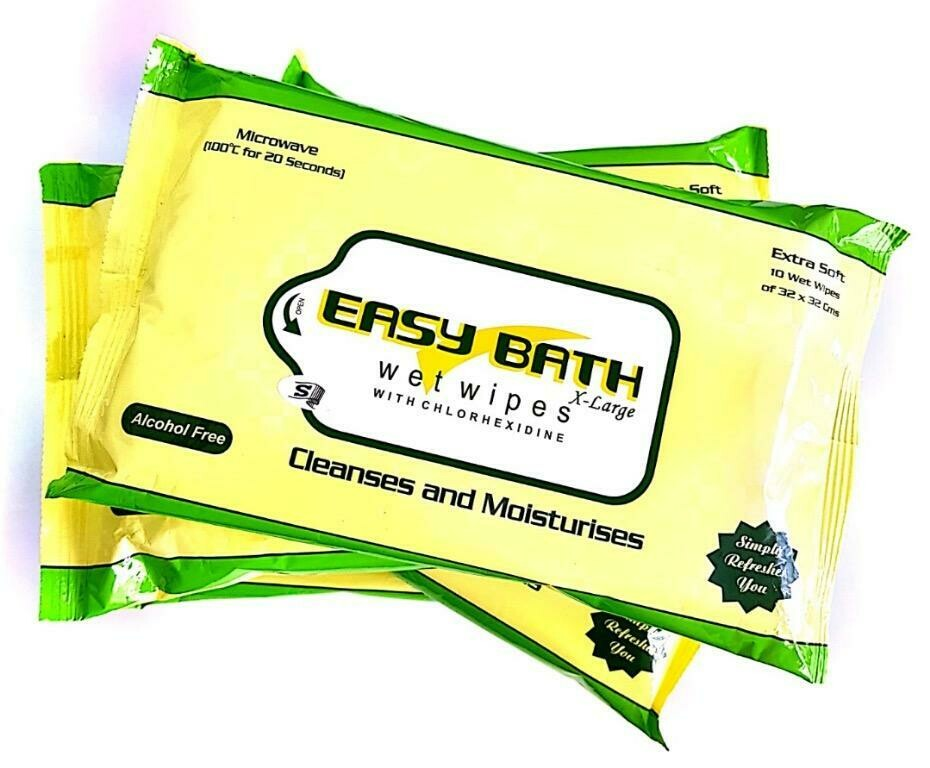 100% Biodegradable, Non-alcoholic, Antiseptic - Easy Bath Wet Wipes