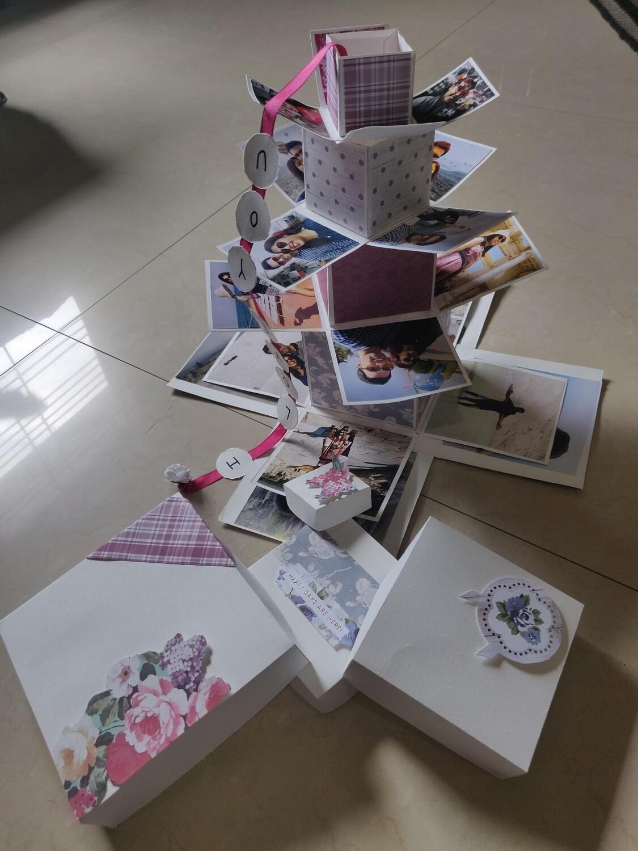 Tower Explosion Box Photo Album - Hand-Made