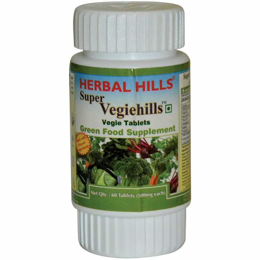 Herbal Hills Super Vegiehills Vegie 500mg 60Tablets