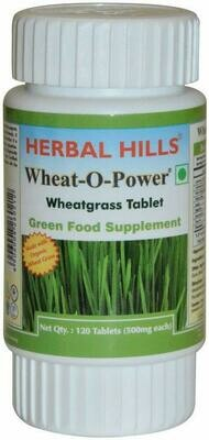 Herbal Hills Wheat-O-Power, Wheatgrass 60Tablets